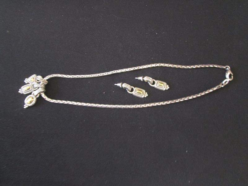 Lot # 96 - Necklace & Earrings (main image)