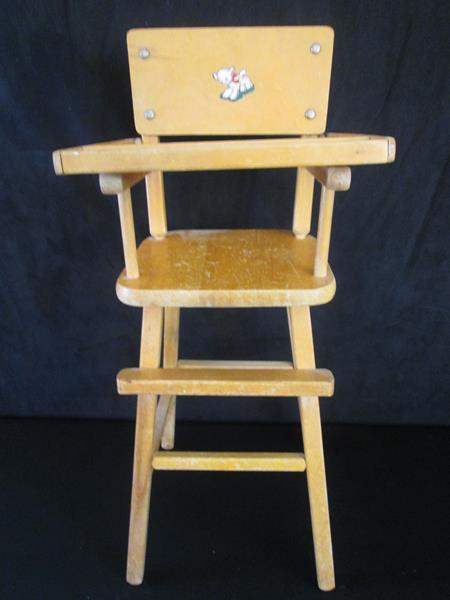 Lot # 101 - Older High Chair (main image)