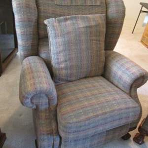Auction Thumbnail for: Lot # 217 - Oversized Wing-Back Style La-Z-Boy Recliner