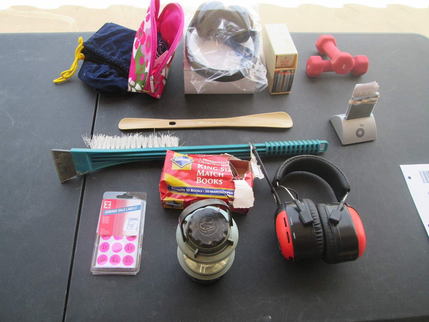 Lot # 61 - 2-Headphones, BP Clock + Miscellaneous (main image)