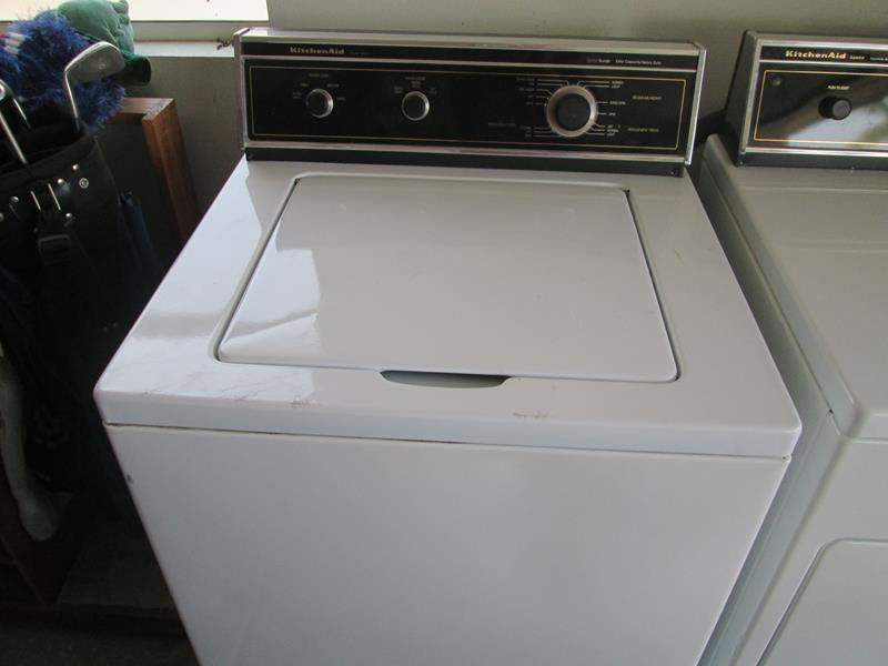 Lot # 124 - KitchenAid Three-Speed Washing Machine #AW660W (main image)
