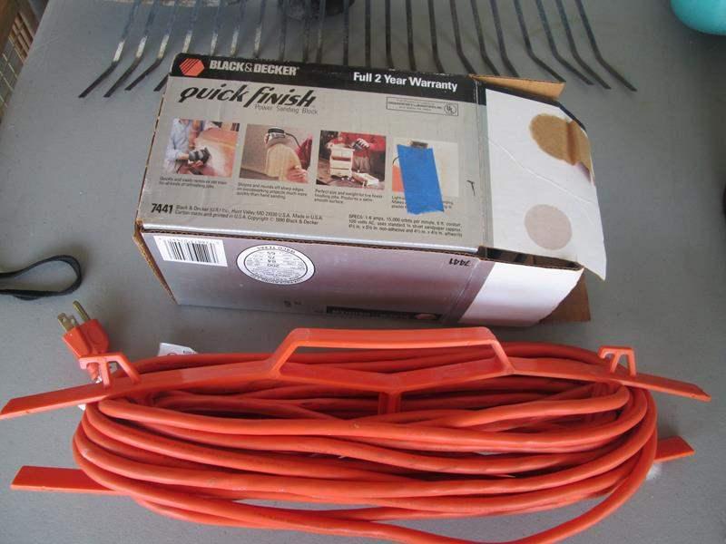 Lot # 149 - B & D Sander, Rake & Pick + Extension Cord (main image)