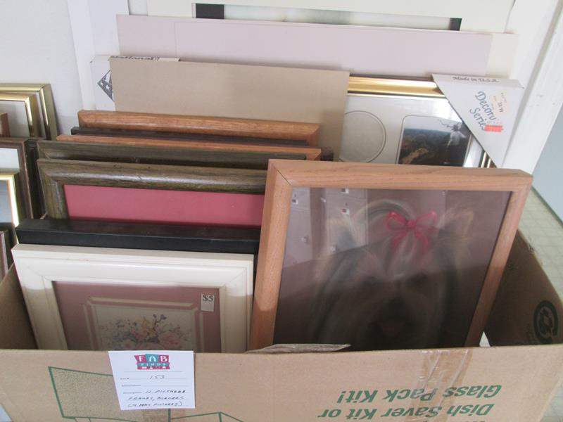 Lot # 153 - 11-Picture Frames, 9 Have Pictures Inside + Mats (main image)