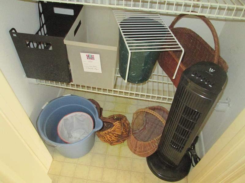 Lot # 174 - Floor Fan, Baskets + Miscellaneous (main image)