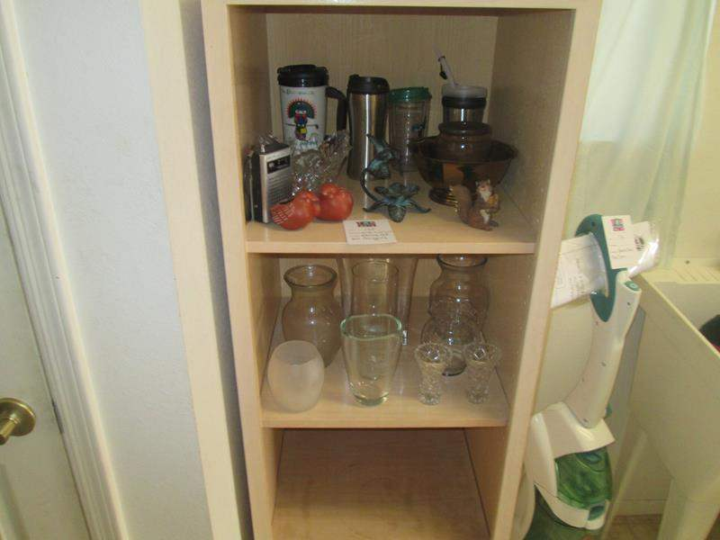 Lot # 175 - Shelving Unit and Miscellaneous Contents (main image)