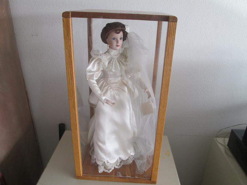 Lot # 183 - Bride Doll in Glass Case (main image)