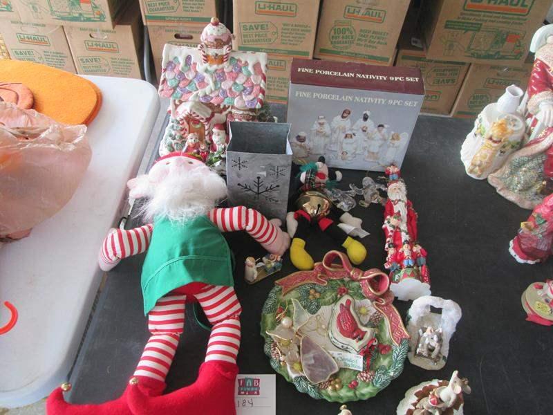 Lot # 184 - 9-Piece Nativity Scene + Christmas Decor (main image)