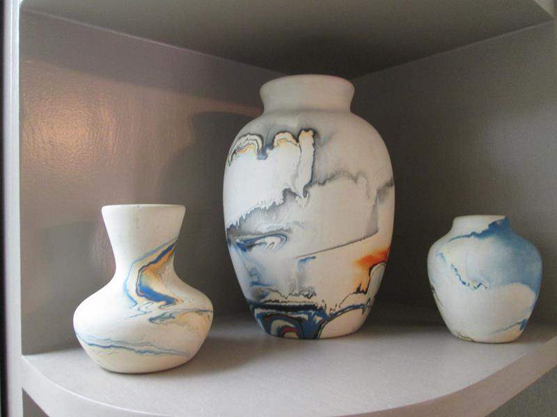 "Lot # 226 - 3-Pieces ""Nemadji"" Art Pottery; 7"", 4"", 3"" (main image)"