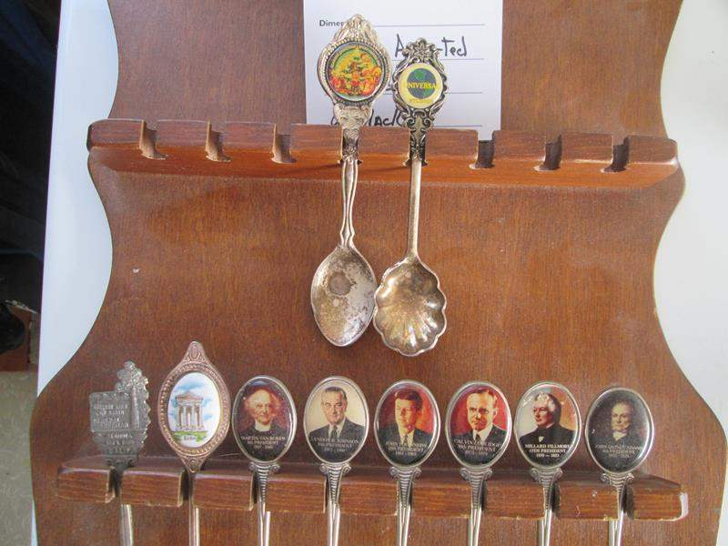 Lot # 187 - 10-Collector Spoons with Rack (main image)