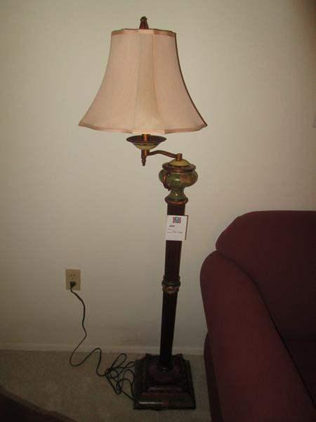 Lot # 213 - Antique Floor Lamp, Marble Trim (main image)