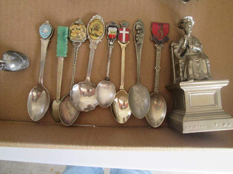 Lot # 197 - 8-Collector Spoons + + (main image)