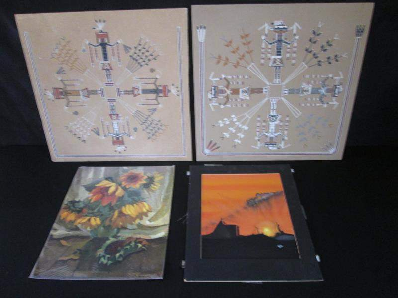 Lot # 236 - 2-Sand Paintings & 2-Framed Pictures (main image)