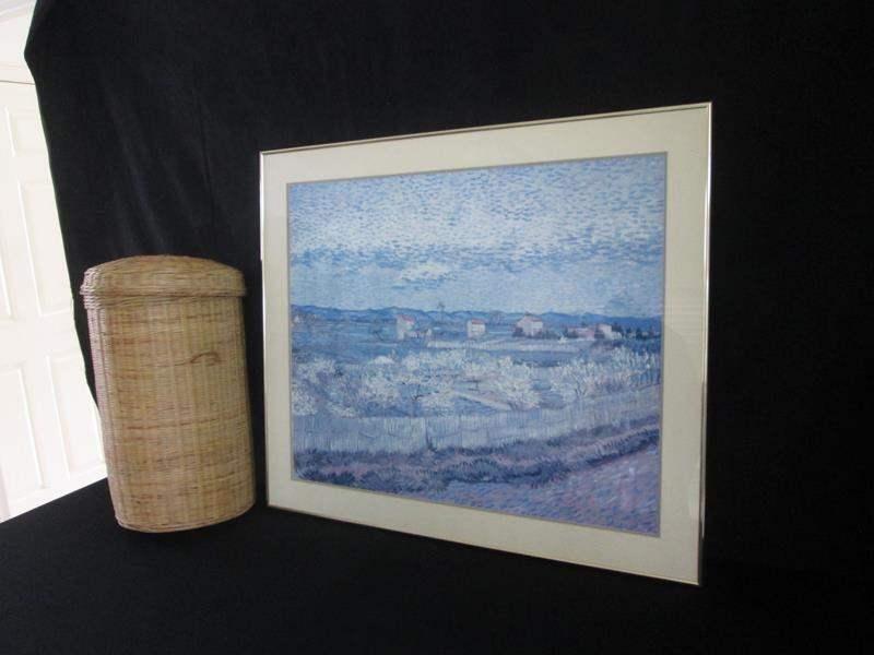 Lot # 239 - Framed Picture & Basket (main image)