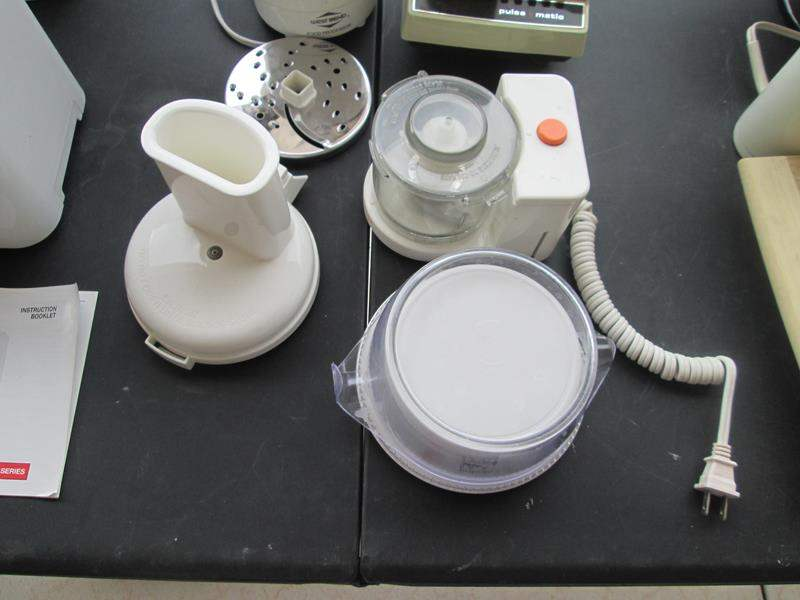 Lot #258 - Vintage Osterizer, Scale, and West Bend Food Processor (main image)