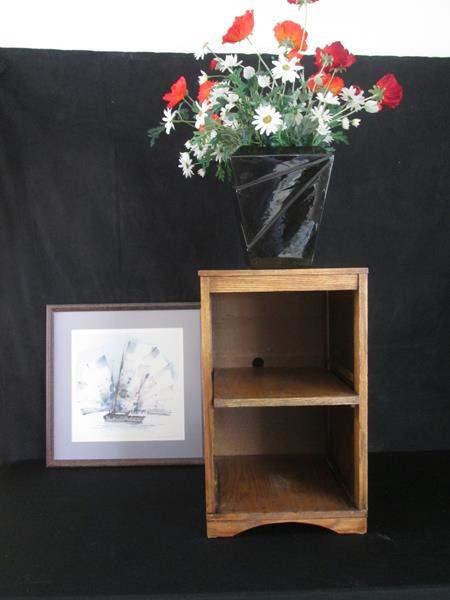 Lot # 265 - Floral, Framed Picture & Shelf Unit (main image)