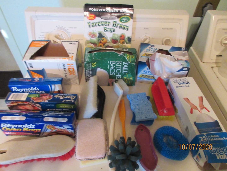 Lot # 94 - Paper Goods, Vases + Hurricane Lamp (main image)