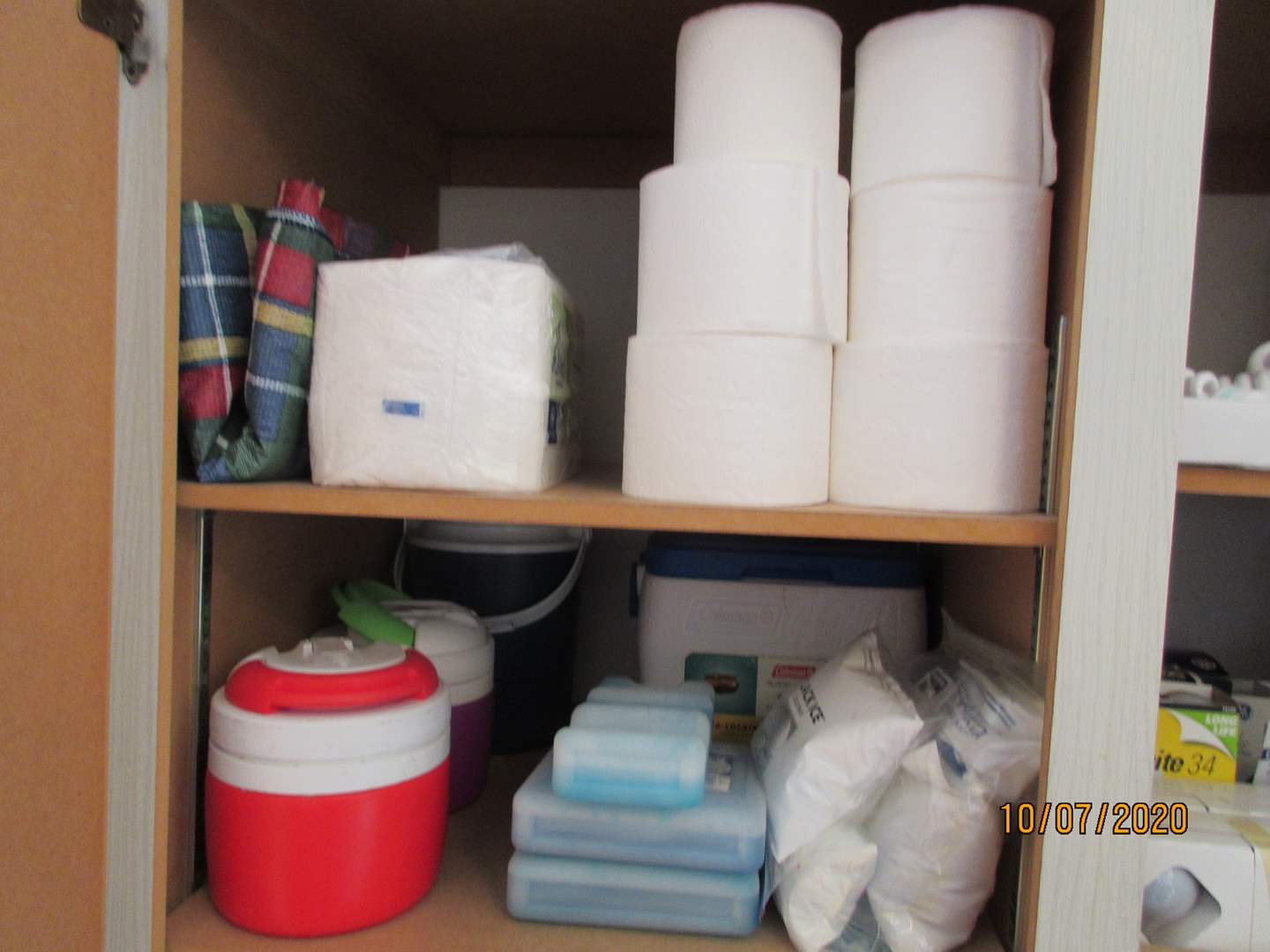Lot # 111 - Coolers & Thermoses, Ice Packs & Paper Goods (main image)