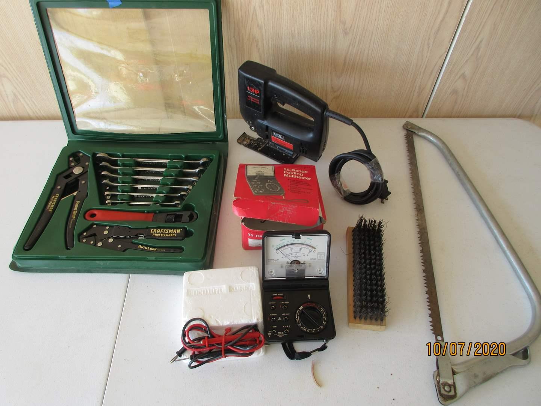 Lot # 126 - Craftsman Wrench Kit, Multi-tester, 1.3HP Jig Saw ++ (main image)