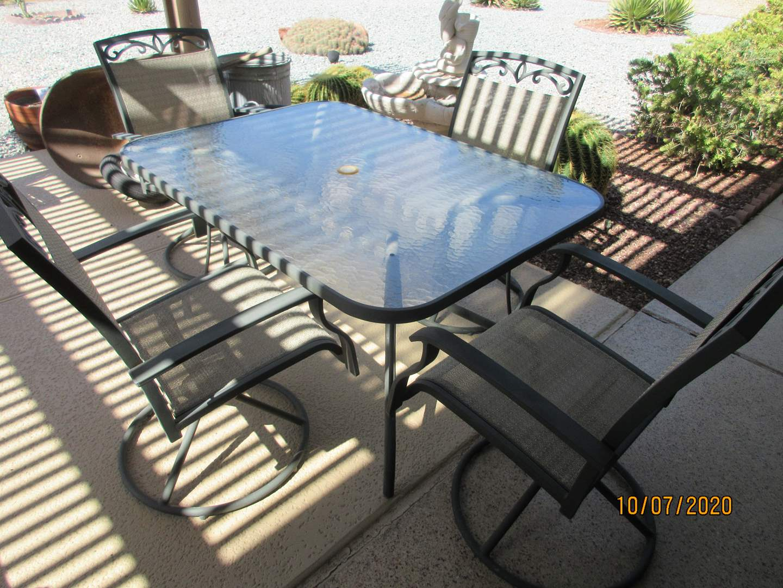 Lot # 176 - Patio Table/4-Swivel Chairs (main image)