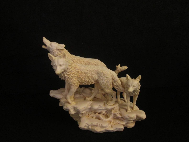 Lot # 81 - Wolves Sculpture (main image)