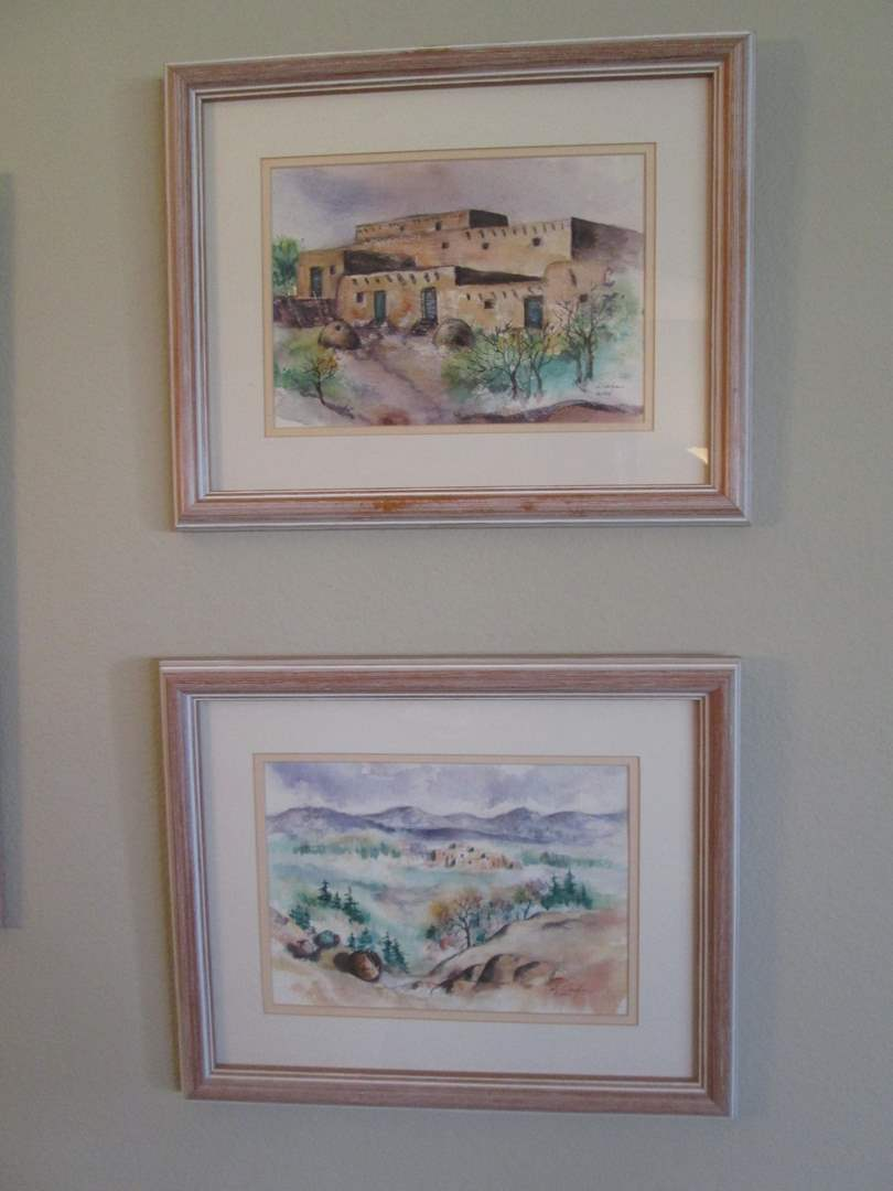 Lot # 69 - 2-Framed Southwest-Themed Water Colors by Cagle (main image)