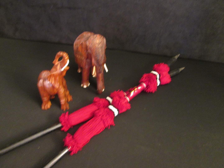Lot # 84 - Wood-Carved Elephant Sculptures (main image)