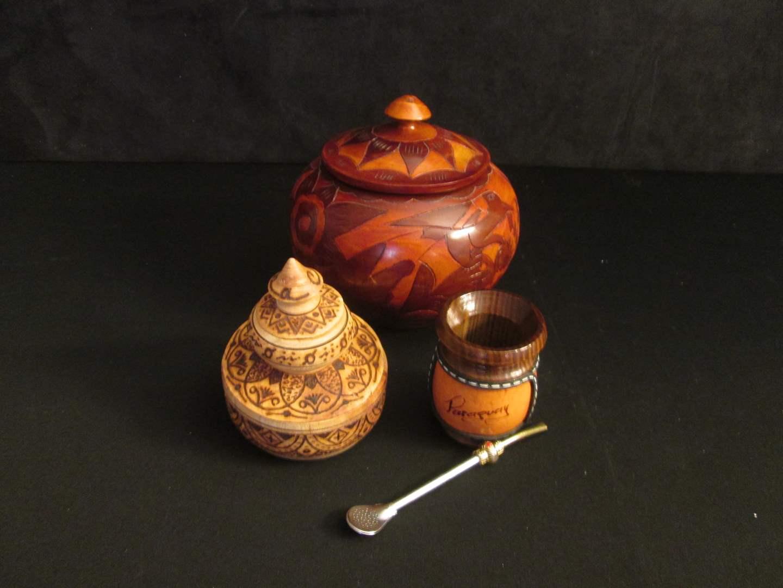 Lot # 187 - Ethnic Carved Wood Bowls (main image)