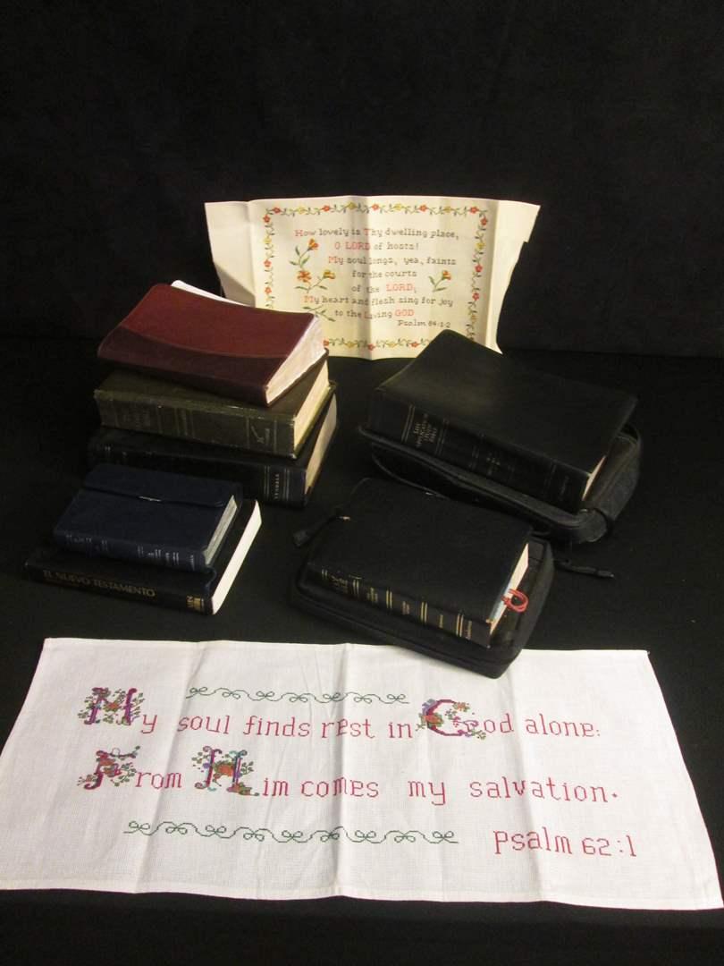 Lot # 188 - Assortment of Bibles (main image)