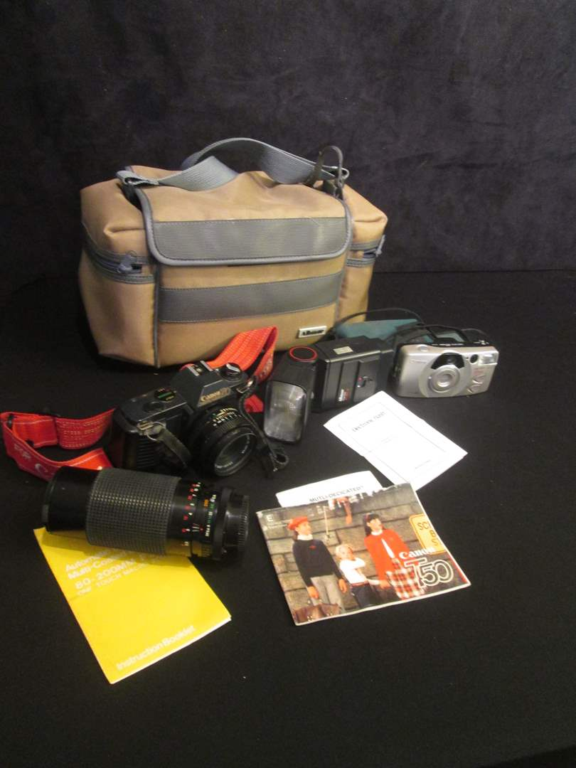 Lot # 192 - Canon T50 Camera with Albinar Zoom 80-200mm & Case (main image)