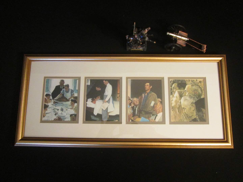 Lot # 197 - Framed Wall Art + Metal Sculptures (main image)