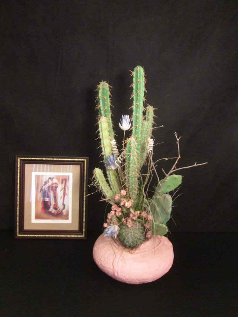 Lot # 201 - Cactus Plant & Ltd. Ed. Framed Art (main image)