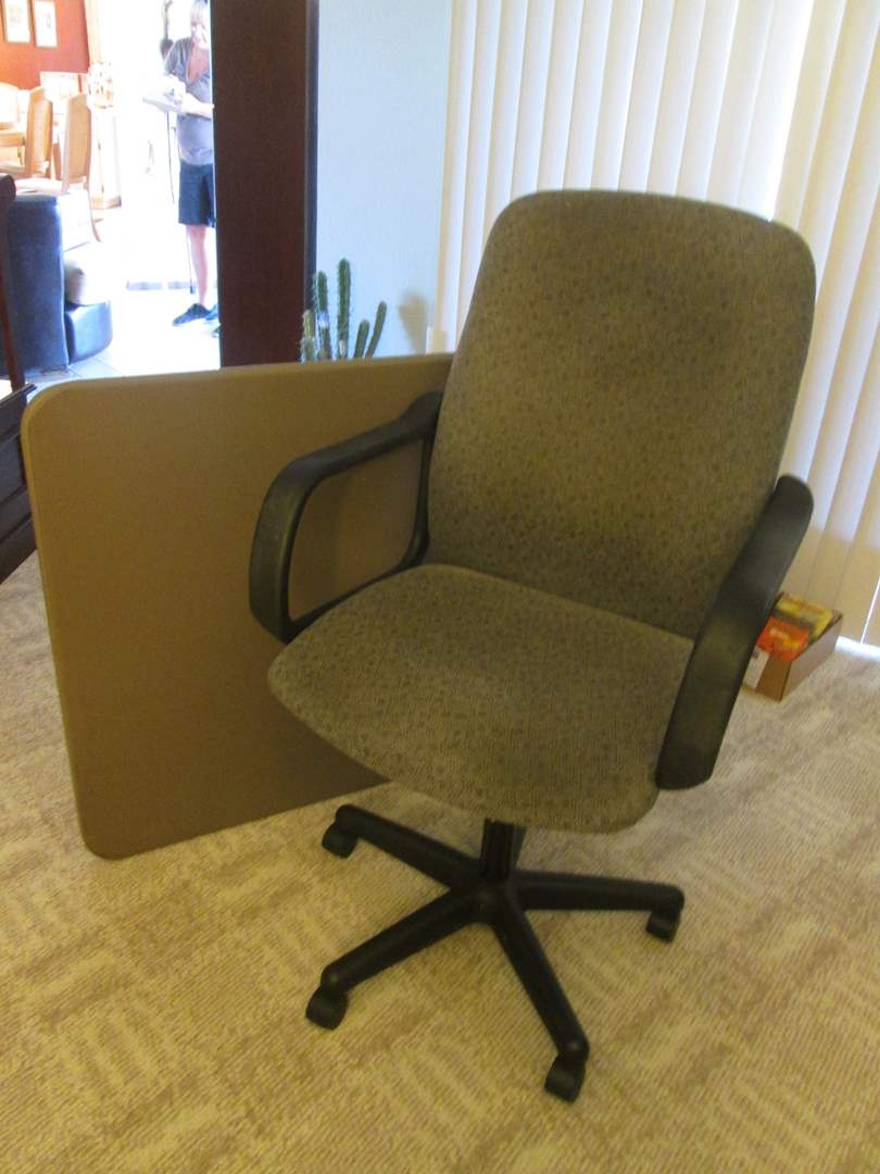 Lot # 202 - Desk Chair & Card Table (main image)