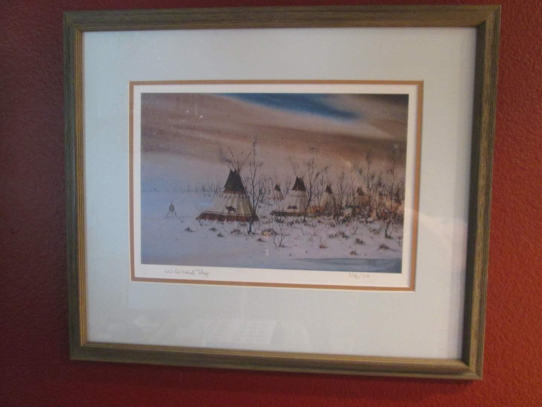 Lot # 204 - Framed Offset Litho Art (main image)