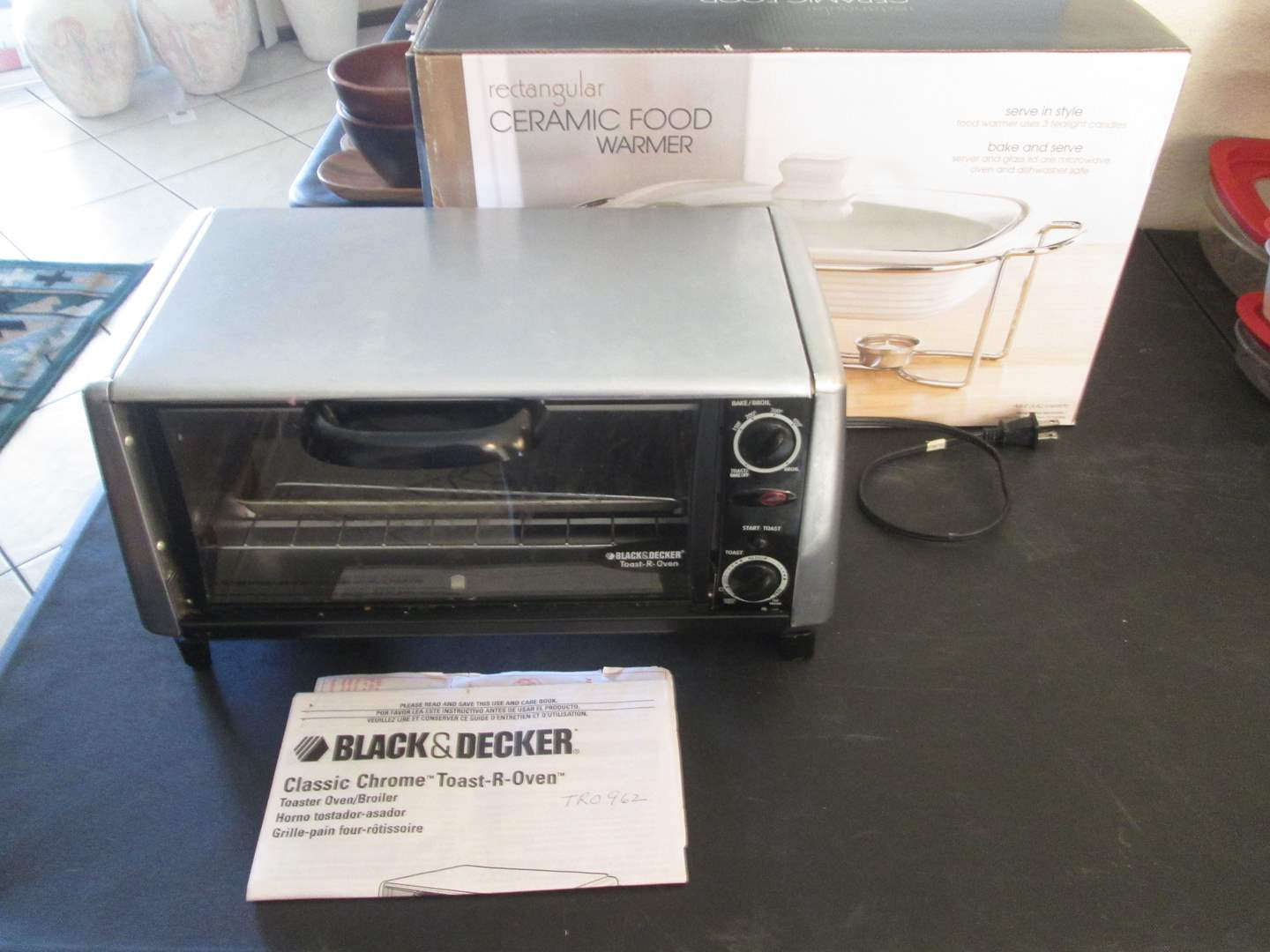 Lot # 227 - B & D Toaster Oven & Food Warmer (main image)