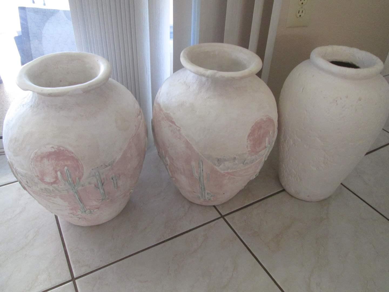 Lot # 231 - 3-Pottery Vases (main image)