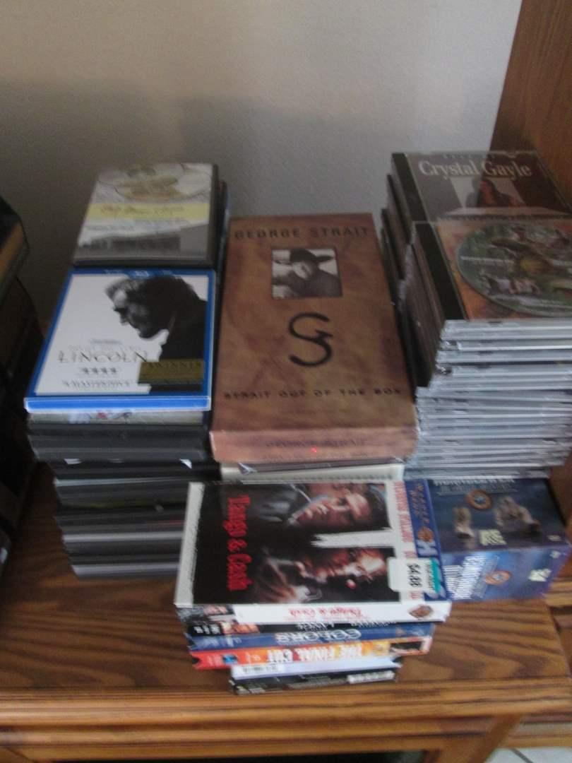 Lot # 234 - Movies, CD's, DVD's (main image)