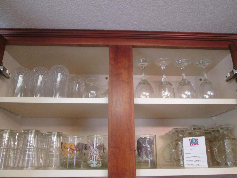 Lot # 251 - Variety of Glassware & Stems + Animal Tumblers (main image)