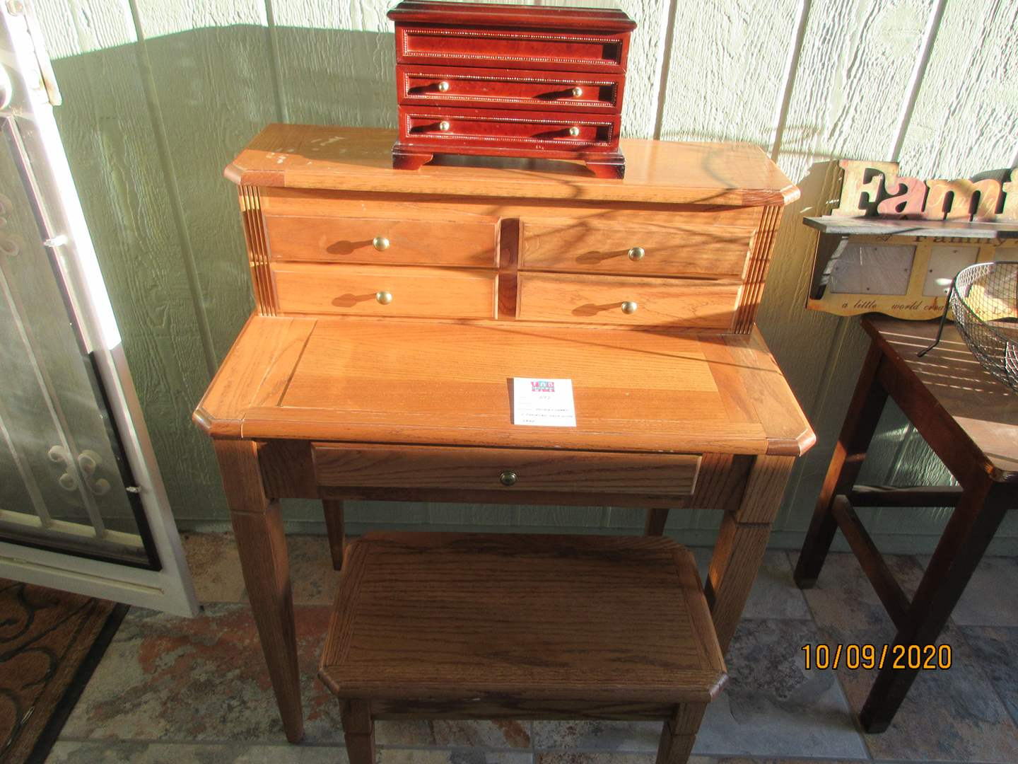 Lot # 297 - Jewelry Chest & Jewelry Desk with Seat (main image)