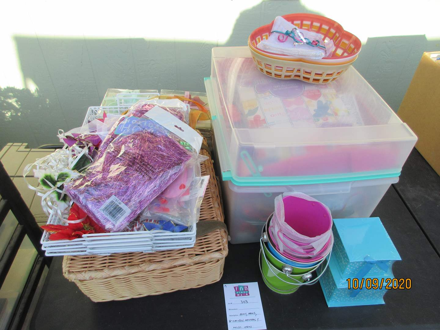 Lot # 303 - Miscellaneous Assortment with Wicker Basket (main image)