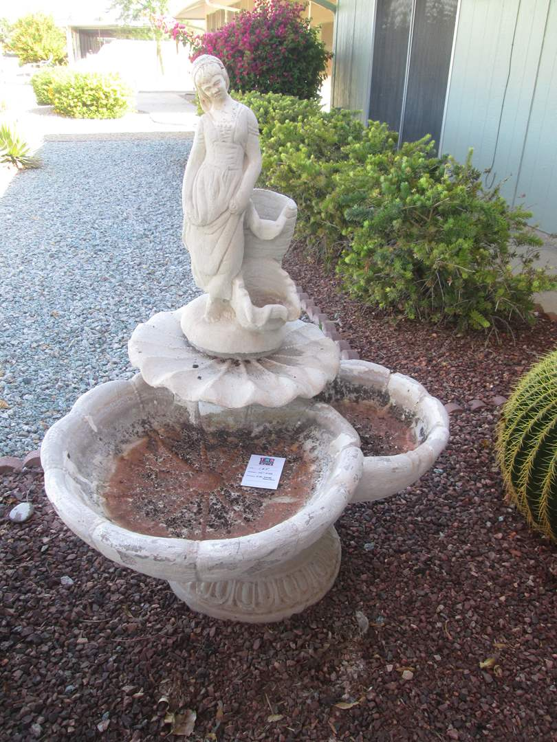 """Lot # 165 - 44"""" High Water Fountain in 4 Pieces (main image)"""