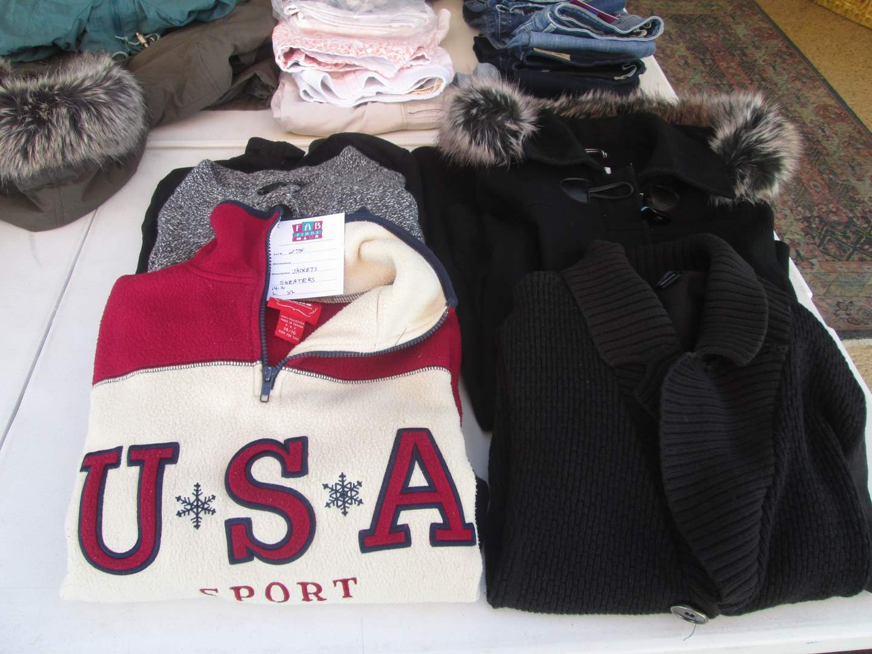 Lot # 275 - Ladies Jackets & Sweaters (L/XL/14/16) (main image)