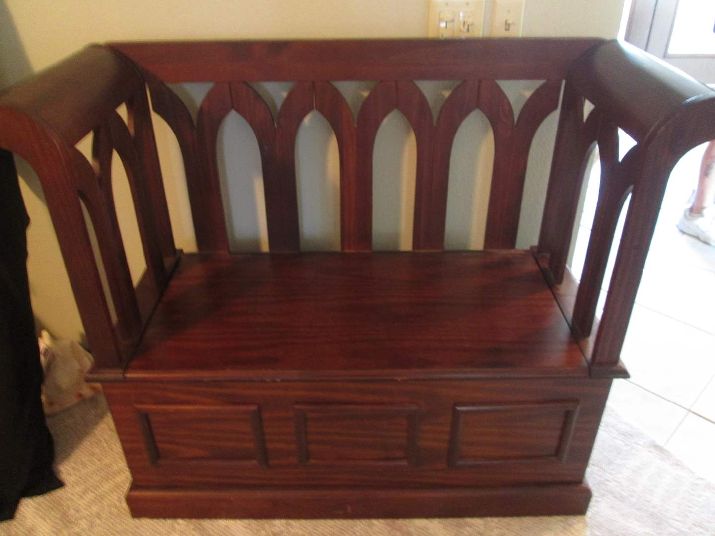 """Lot # 341 - 47"""" Deacons Bench with Lower Storage (main image)"""
