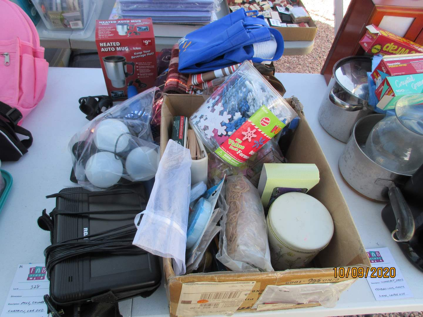 Lot # 328 - Auto Mug, Car DVD, Shower Curtain + Miscellaneous (main image)