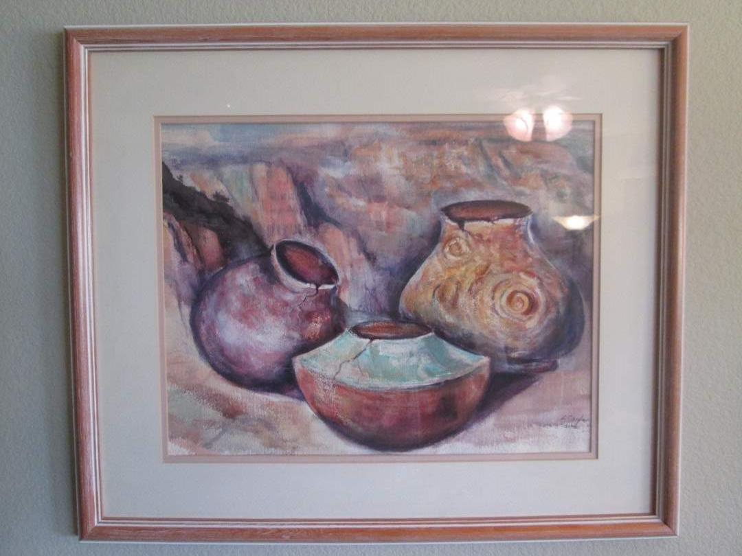 Lot # 68 - Framed Water Color by Cagle (main image)