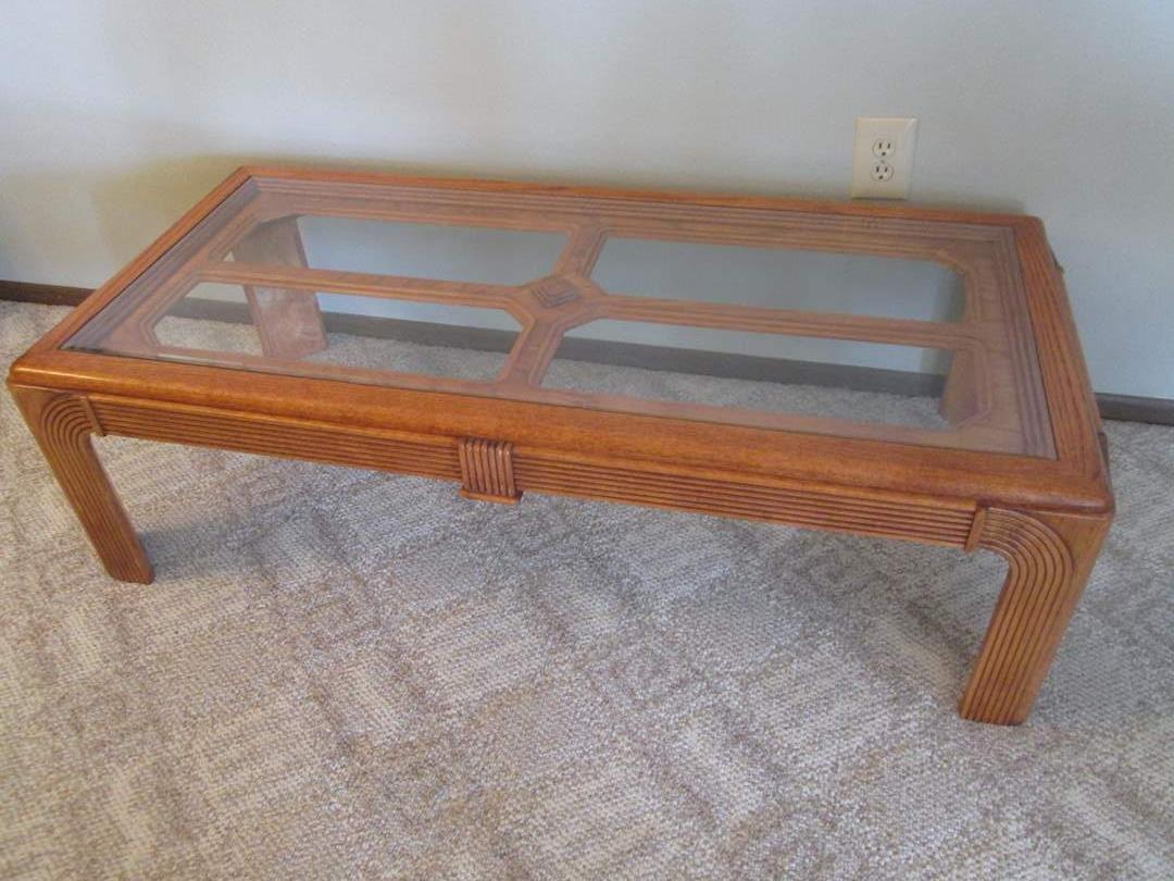 Lot # 70 - Coffee Table with Glass Inserts (main image)