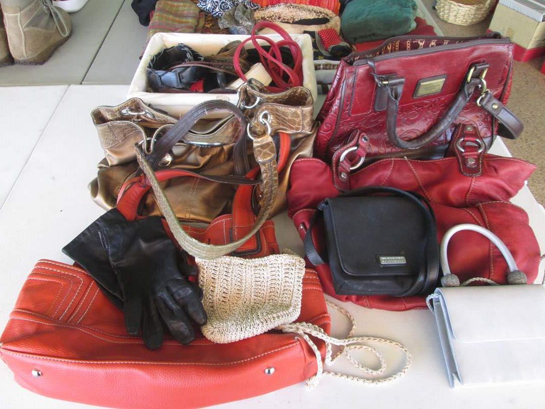 Lot # 283 - Assorted Purses, Belts & Gloves (main image)