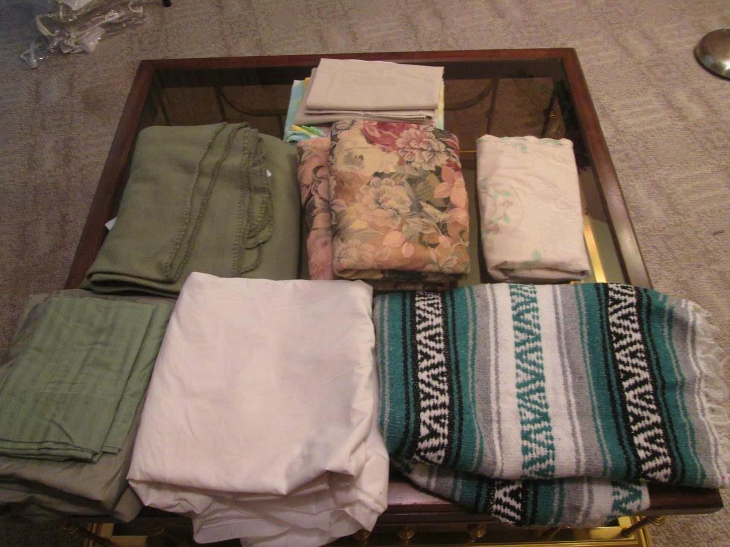 Lot # 294 - Blankets, Twin Pillow Shams & Miscellaneous (main image)