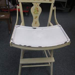 Lot # 2 - Vintage High Chair with Removable Enameled Tray