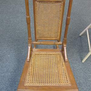 Lot # 3 - Older Rocking Chair with Cane Back & Seat Inserts