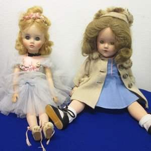 """Lot # 7 - 17"""" Madame Alexander Ballerina, 1960's & 18"""" Effanbee, Composite"""
